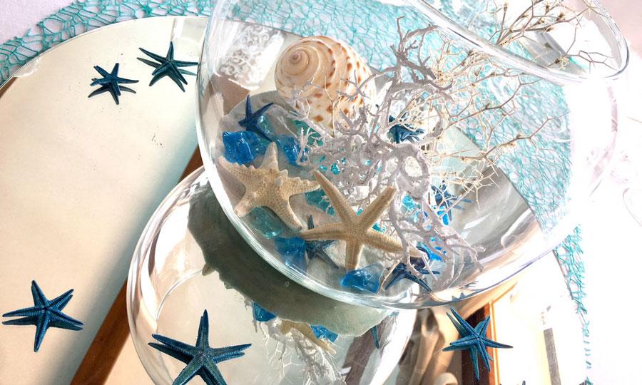 Matrimonio Tema Blu : Matrimonio a tema mare il blu bianco e le stelle marine