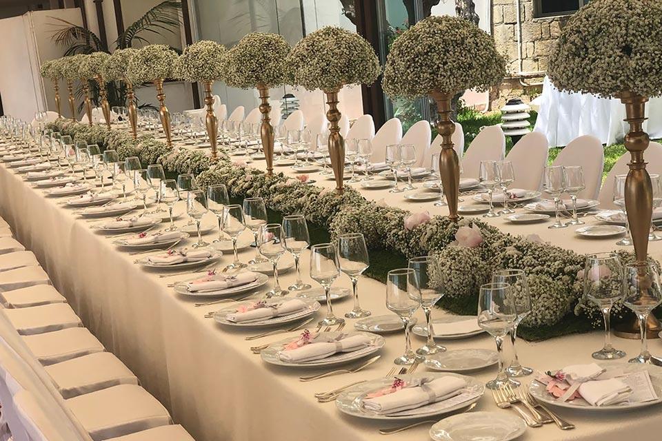 Tavolo Imperiale - villa per matrimonio Napoli Tenuta Cigliano