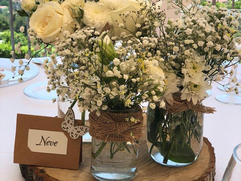 Segnaposti con fiori - Tenuta Cigliano Location Matrimonio
